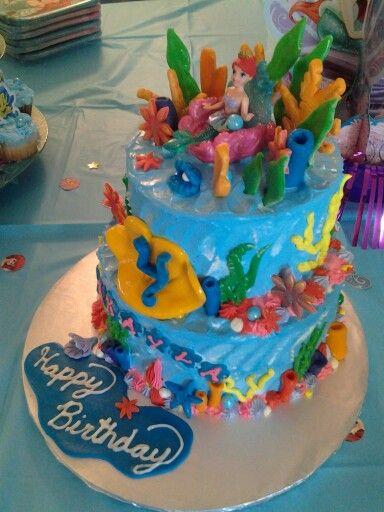Little Mermaid Birthday Cake By Cakes Gabriela Of Houston Texas