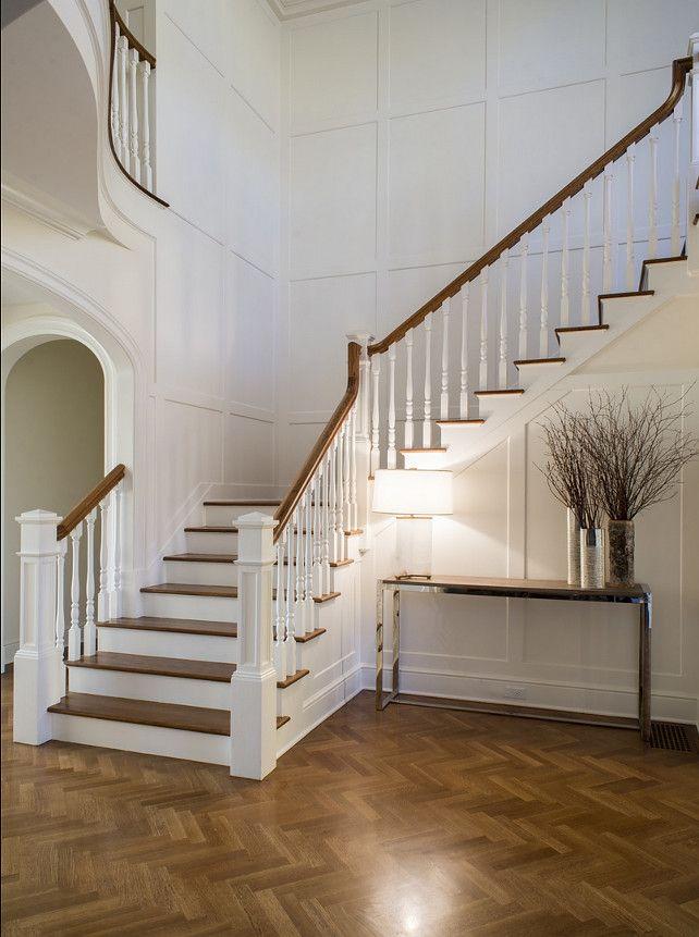 Paneled Walls, Herringbone Floors By Grayson De Vere Design