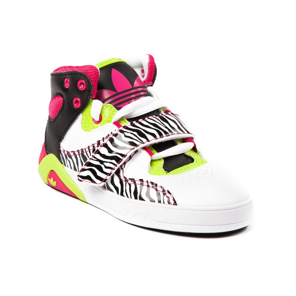 Adidas Shoes For Girls | Toddler Girls adidas Roundhouse Athletic Shoe,  White Pink Green .