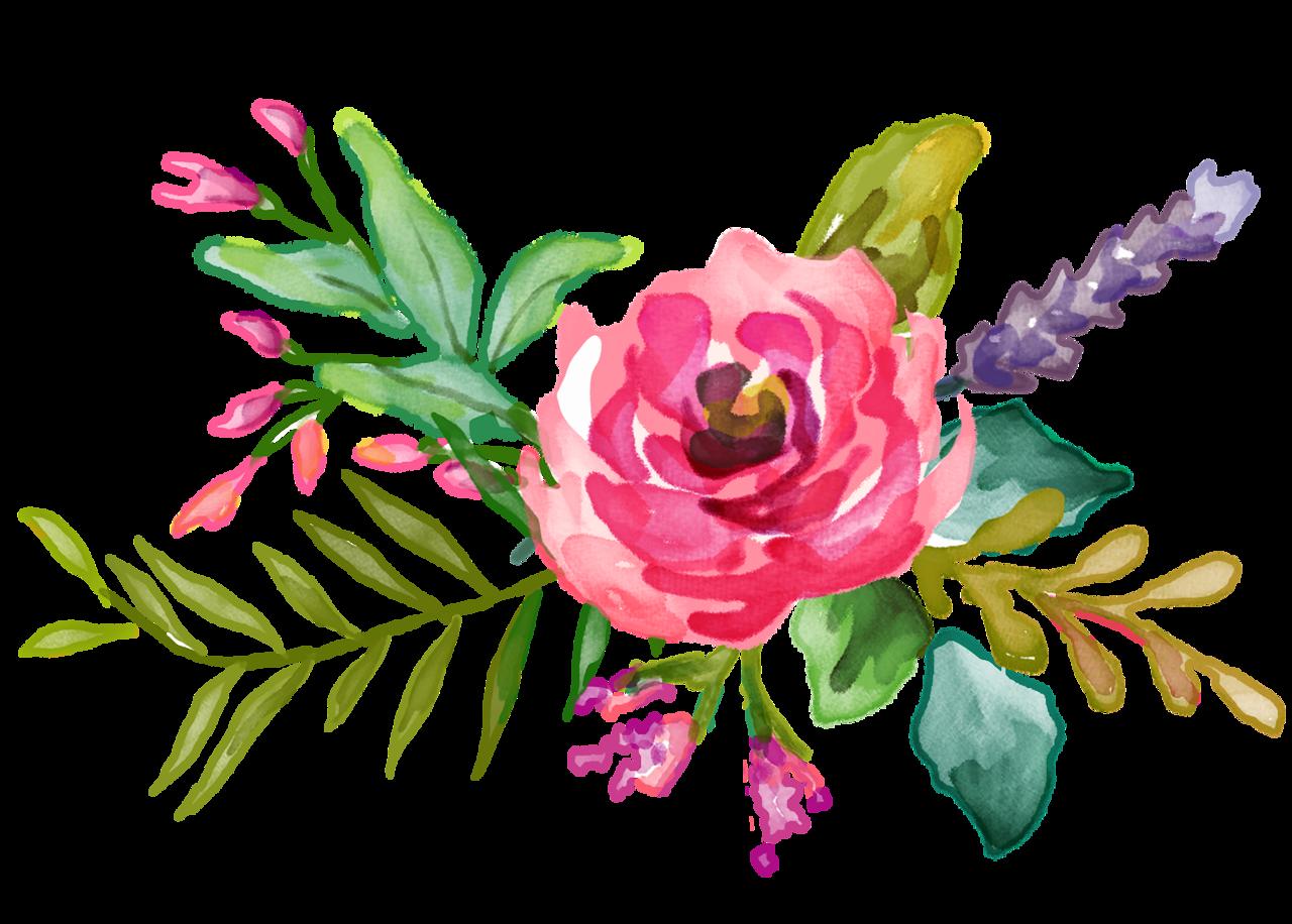 Fl res jardim e etc creative borders backgrounds for Watercolor flower images