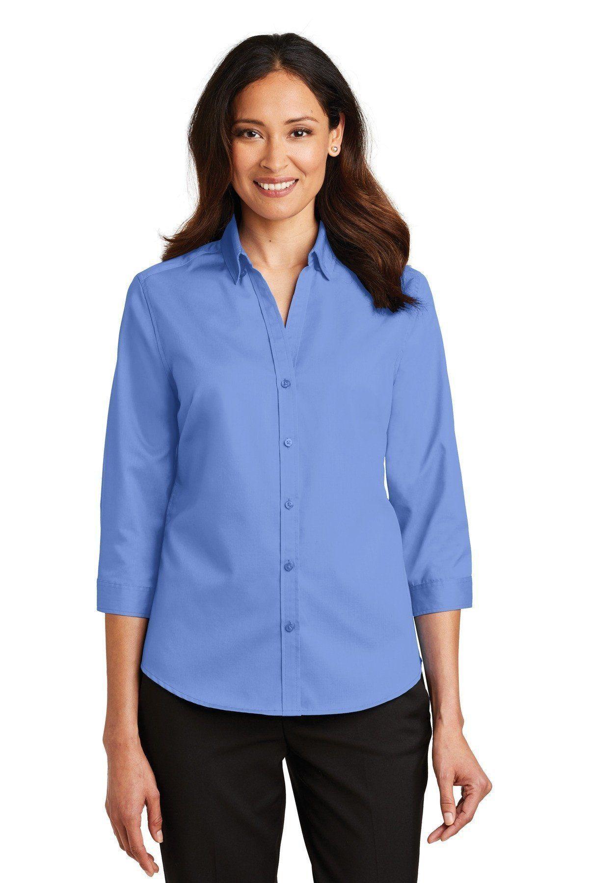 98934f4b6 Port Authority Ladies 3/4-Sleeve SuperPro Twill Shirt Ultramarine Blue L665