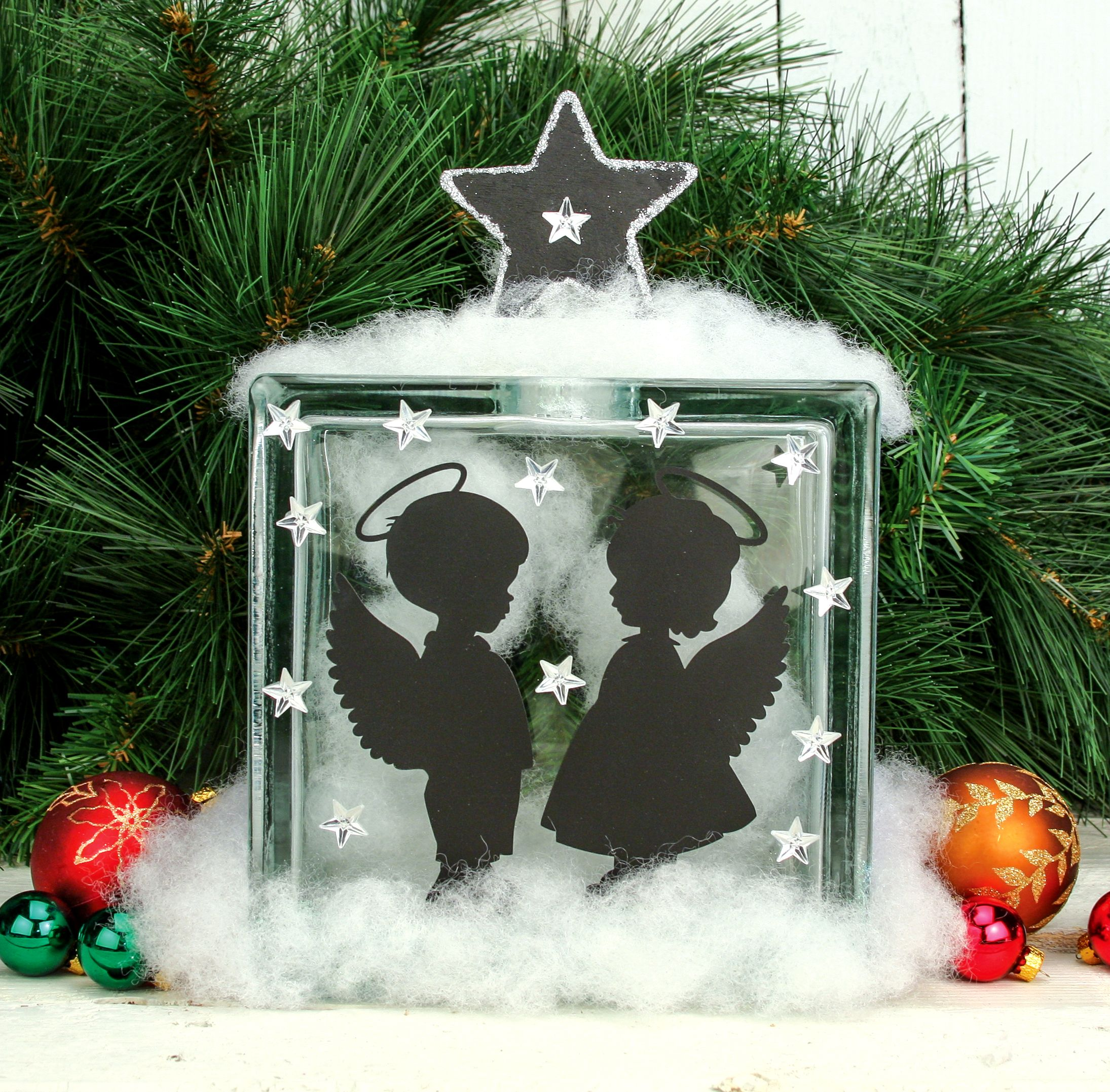 Glass Block Craft Ideas For Christmas Part - 26: Nicole™ Crafts Angel Glass Block #christmas #glassblock