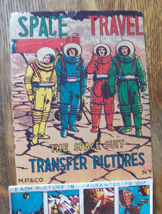 Antique Space Travel Transfer Stickers The Space Suit by lesaestes