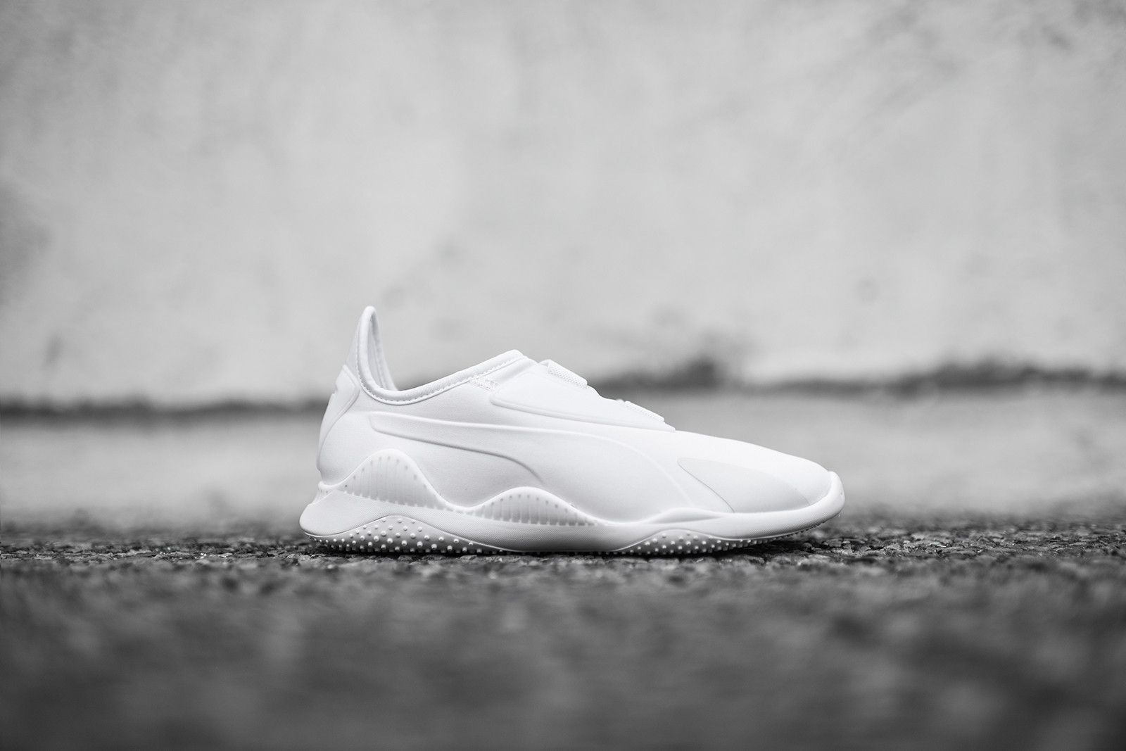 online retailer dd92b 1fb13 Puma releases the WMNS-exclusive Mostro model executed in an all-white  color scheme