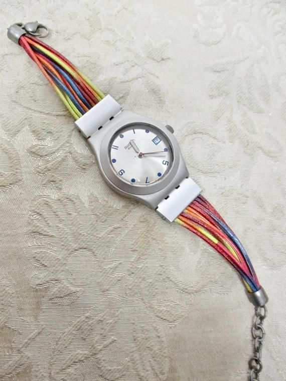 Vintage SWATCH Watch 80S Women's CHOICE of 1: 80s Neon Swatch RARE