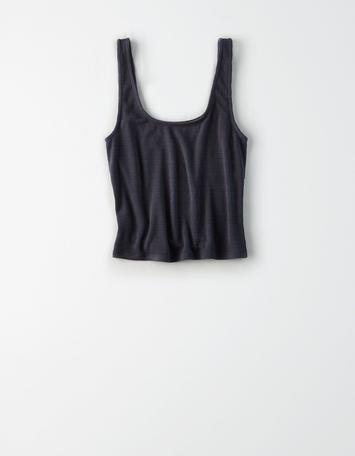 Ae Square Neck Ribbed Tank Top Washed Black American Eagle Outfitters Ribbed Tank Tops Layering Tank Tops Tank Tops