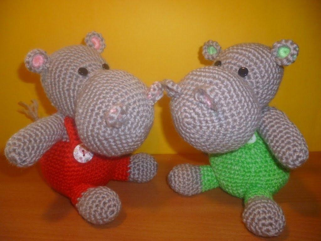 Tutorial Ippopotamo Uncinetto - Amigurumi Hippopotamus Crochet ...