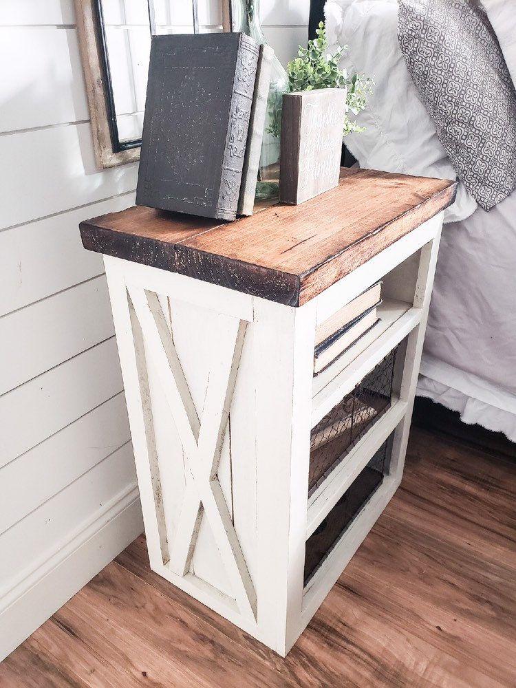 Ayla Farmhouse nightstand, wooden nightstand, Farmhouse
