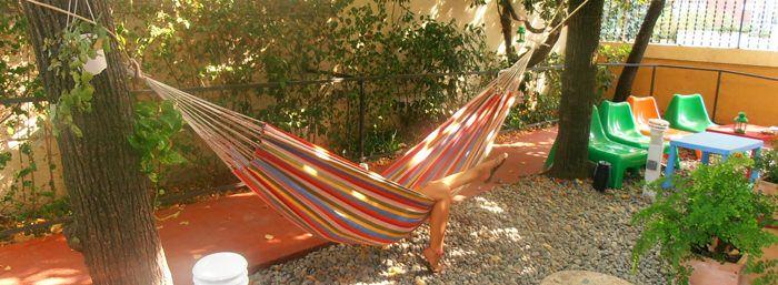 Relax in the Feetup Garden House Hostel