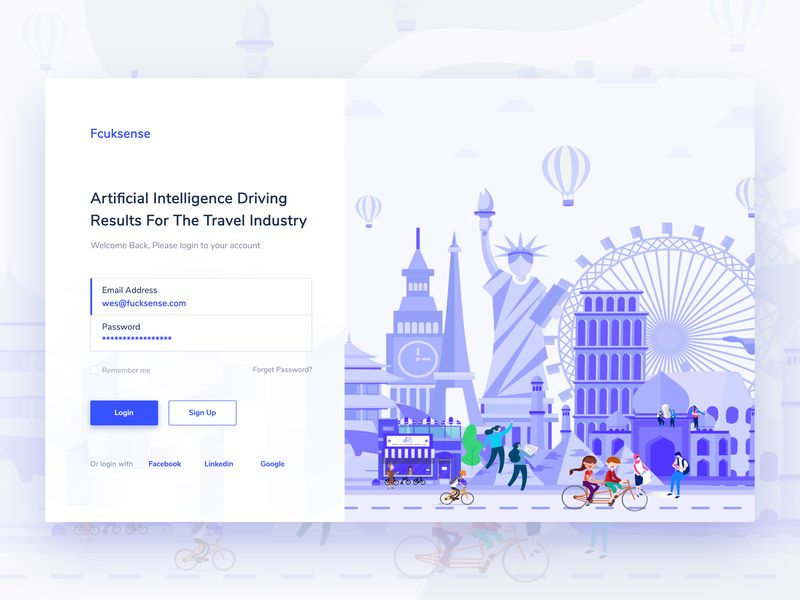 Login Screen Web App Design | 插画 | App design、App ui