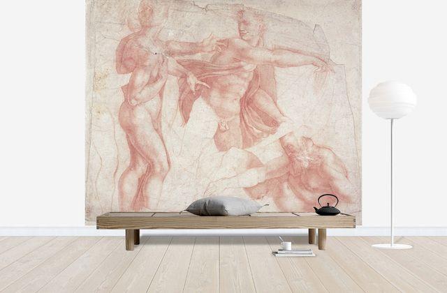 Studies of Male Nudes - Michelangelo Buonarroti