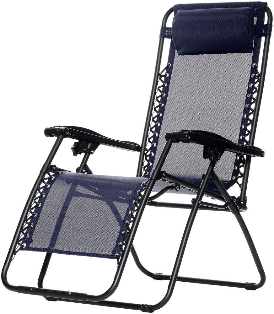 Gravity Outdoor Zero Chair Blue Relaxation Folding w