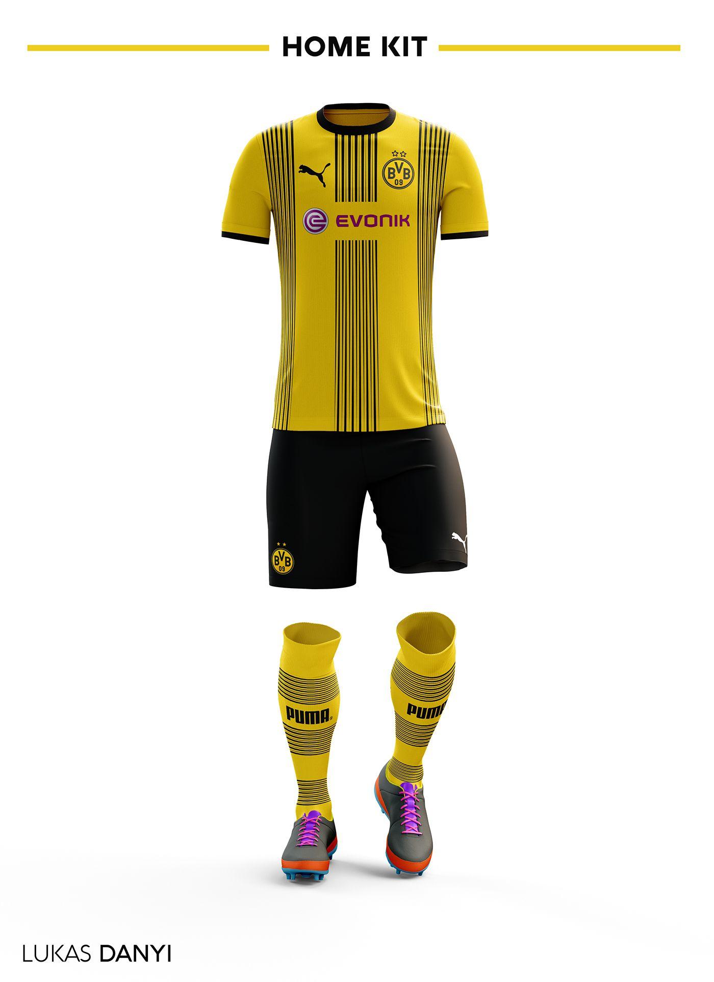quality design 97b94 df261 I designed football kits for Borussia Dortmund for the ...