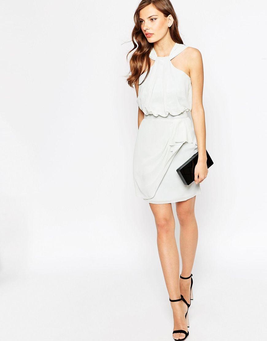 Image 4 ofVLabel Cressy Halter Neck Dress