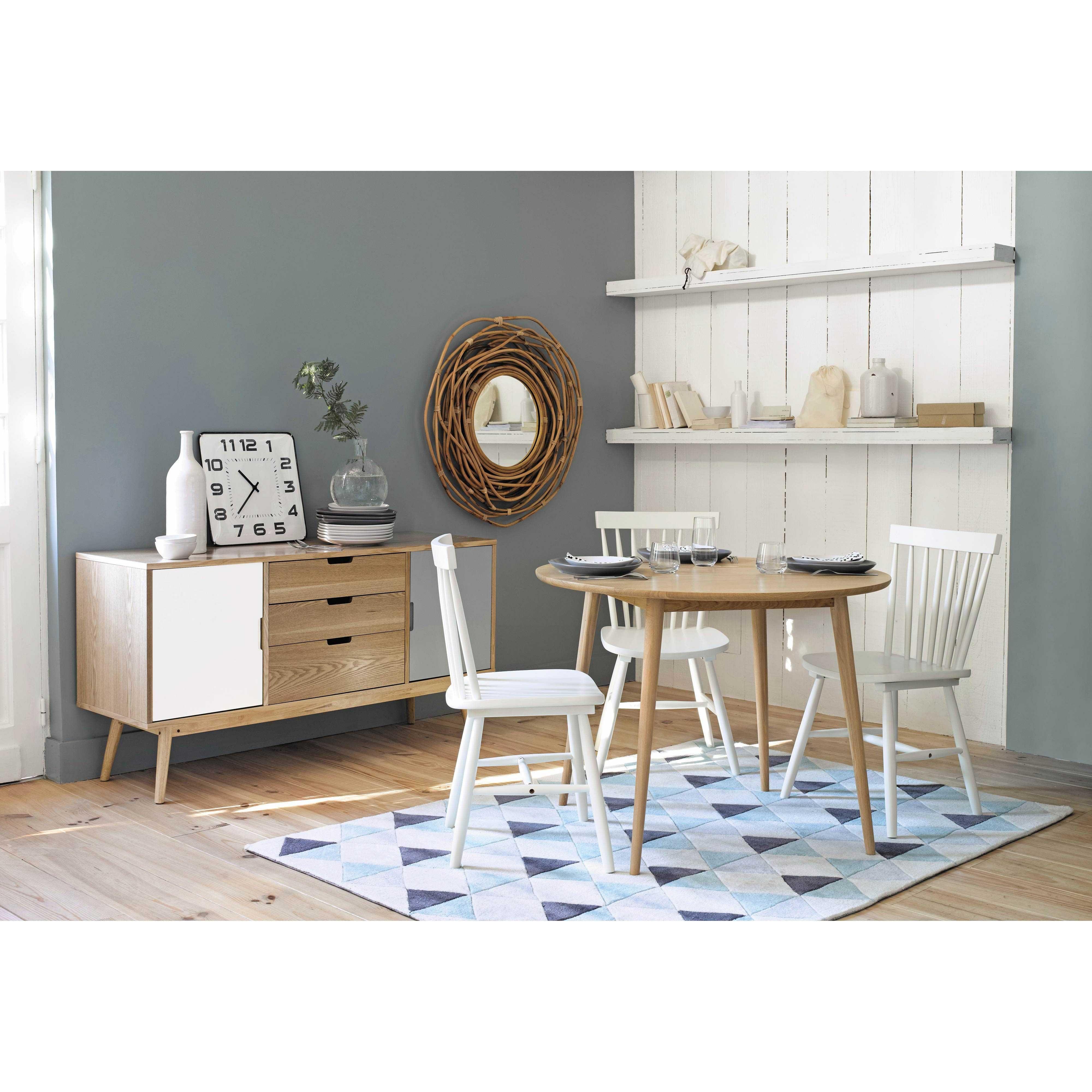 Buffet vintage en bois blanc et gris L 145 cm Fjord   Maisons du ...