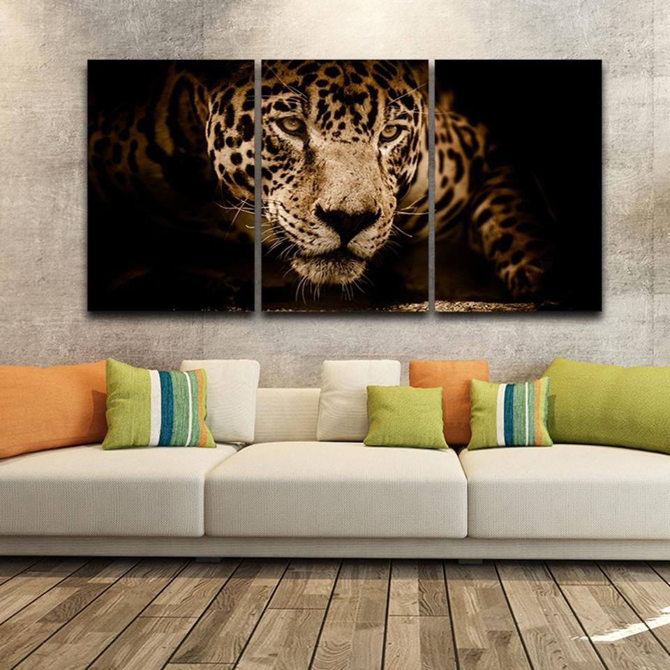 Leopard Animals Canvas Oil Painting Wall Art Picture For Living Room Home Decor
