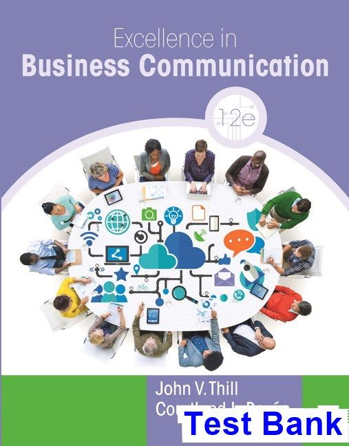 Excellence in Business Communication 12th Edition Thill Test Bank - resume quiz