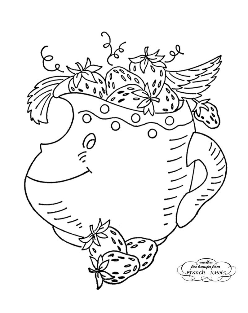 kitchen creamer embroidery transfer pattern | Embroidery | Pinterest ...