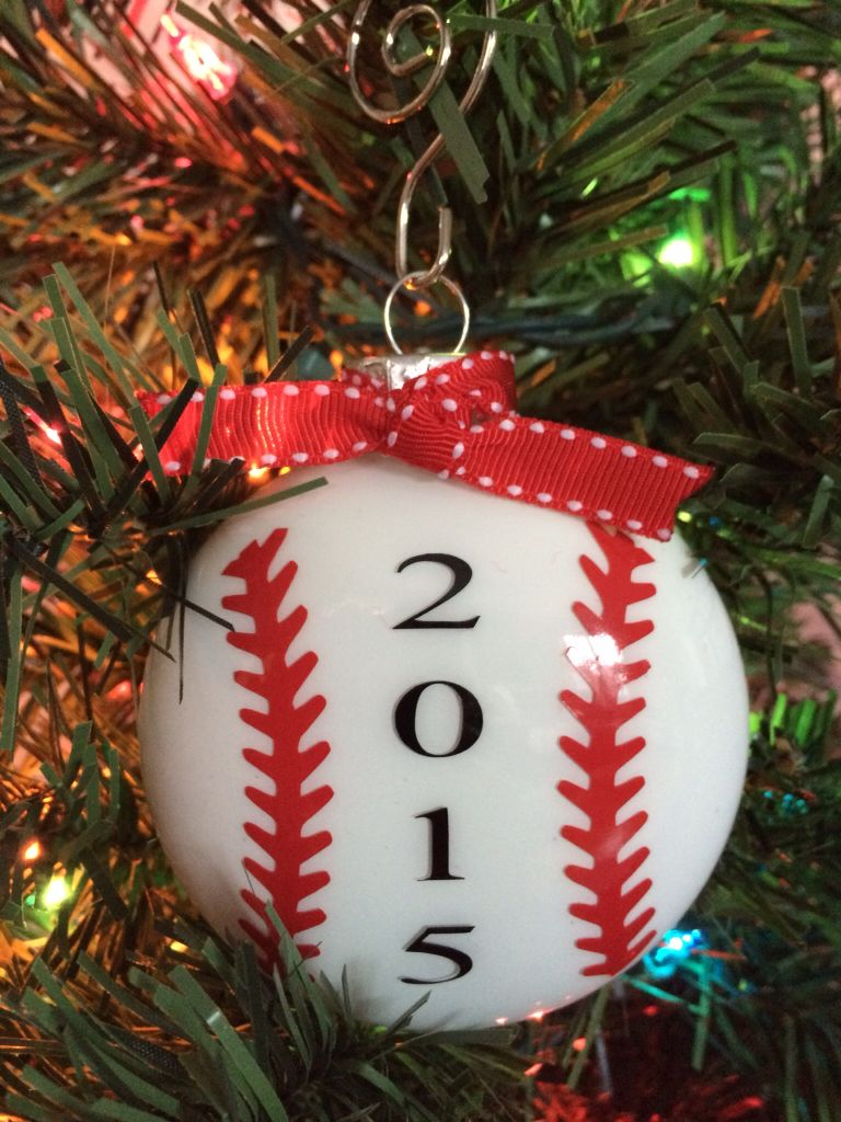 Baseball Ornament Can Have Child S Team Name Etc Added Fb Bonniescustomsignsanddesigns Baseball Christmas Christmas Ornaments Homemade Baseball Ornaments