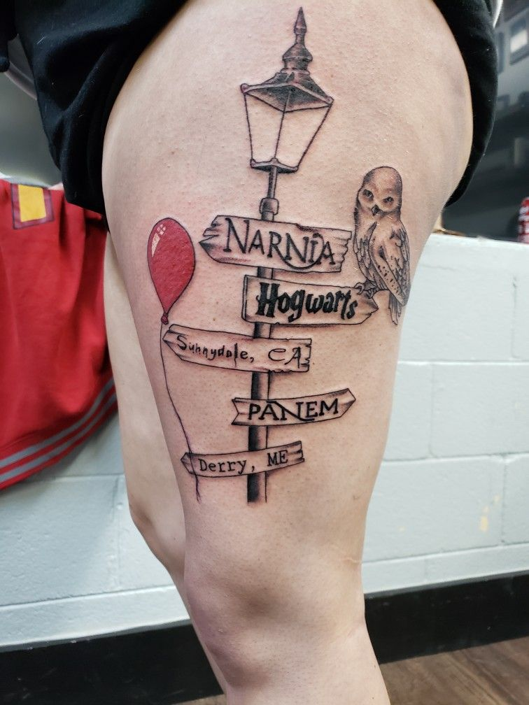 Light Pole Fiction Stories Tattoo Story Tattoo Pennywise Tattoo Movie Tattoos