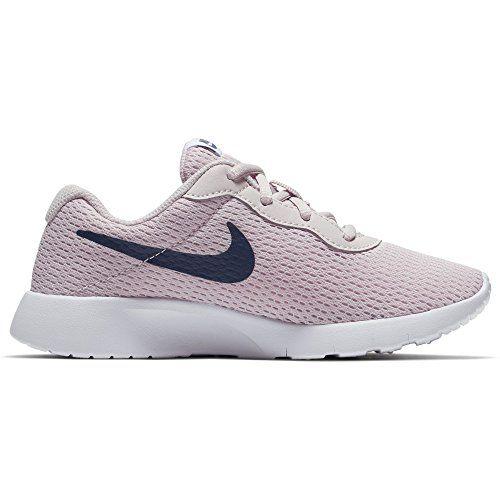 NIKE Girl's Tanjun Shoe Barely Rose/Navy/White Size 2 M ...