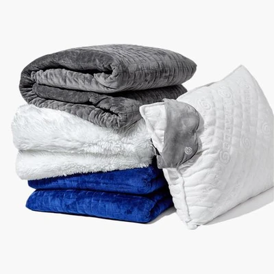 Gravity Blanket Gravity Blanket The Weighted Blanket For Sleep And Stress In 2020 Gravity Blanket Cooling Blanket Weighted Blanket