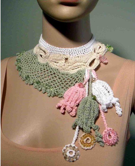 ELEGANT FREEFORM NECKLACE  Vintage Inspired Old Irish by julianata, $65.00