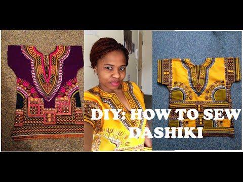 DIY:HOW TO SEW DASHIKI WITH POCKETS....ANKARA - YouTube