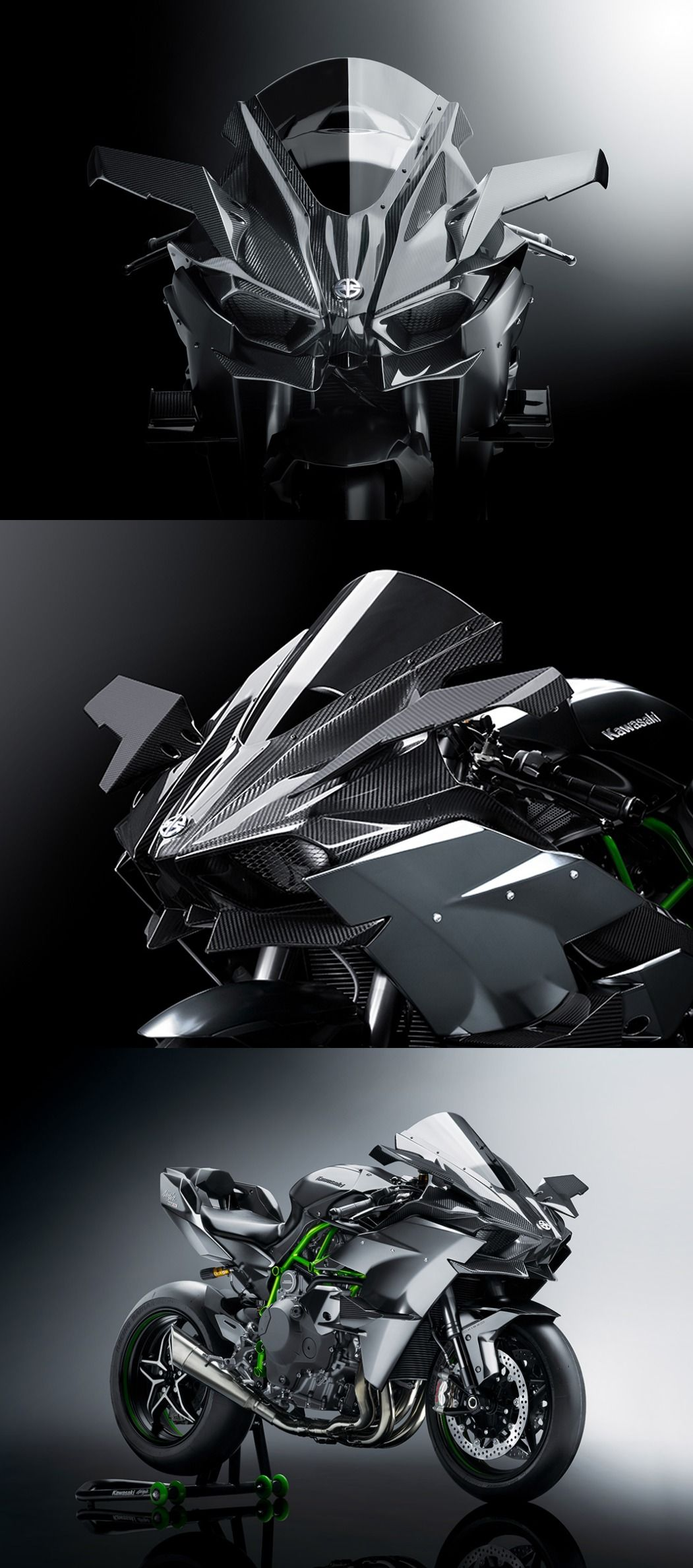Kawasaki Ninja H2R A Street Version Of The Heavily Designed Supercharged Engined Motorcycle