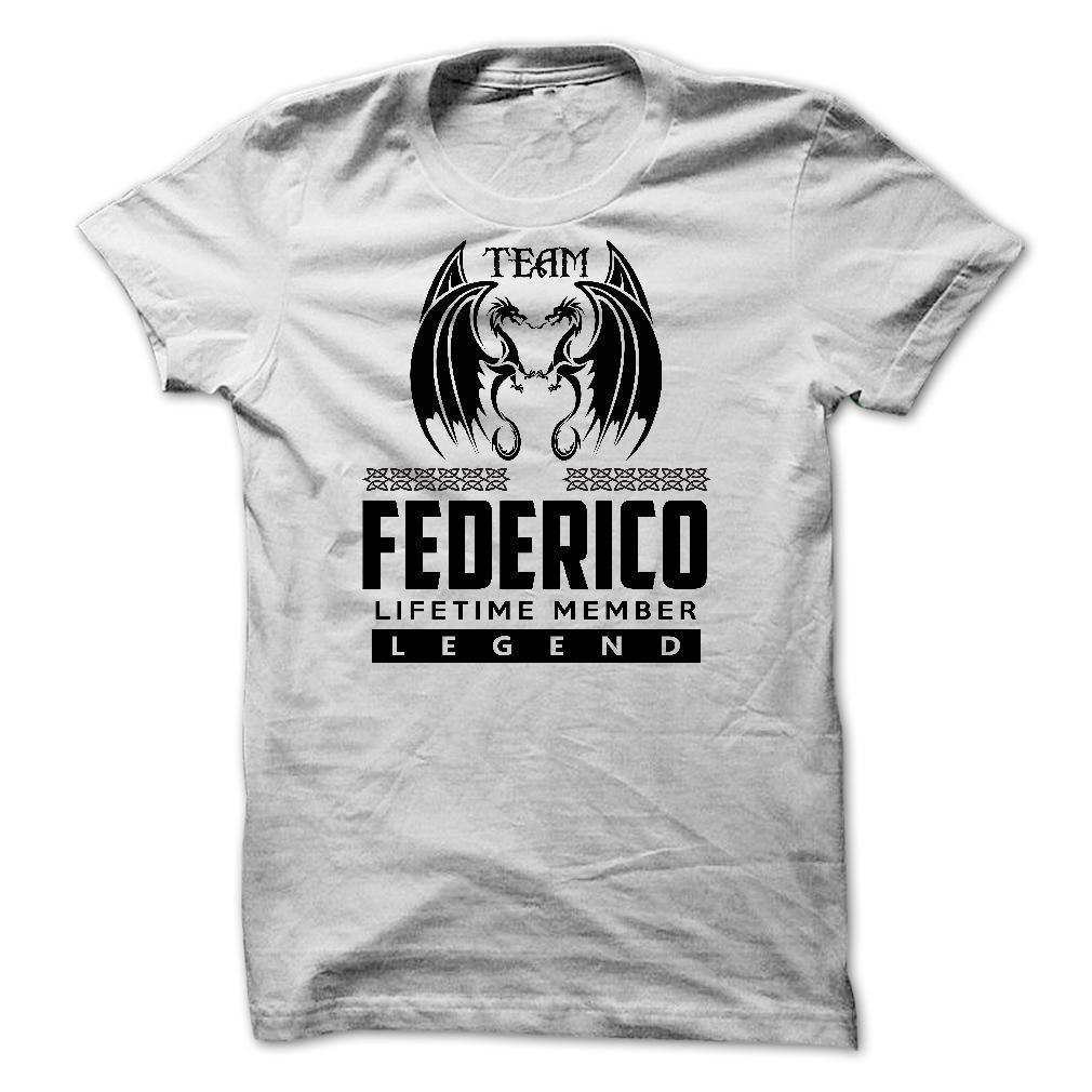 nice  Team FEDERICO Lifetime Members 4ori - Discount 10% Check more at http://tshirtlifegreat.com/camping/top-tshirt-name-list-team-federico-lifetime-members-4ori-discount-10.html