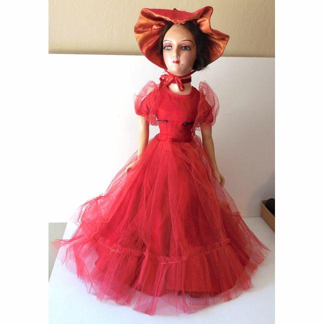 Gorgeous Vintage Boudoir Doll w/ Eyelashes 26 Inch from californiagirls on Ruby…