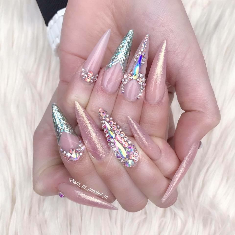 Pin by Nicola Dunne UK on Stiletto nails | Pinterest | Sexy nail art ...