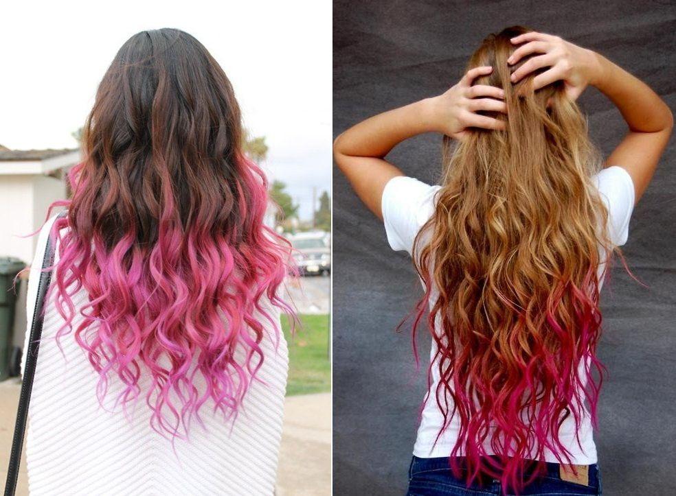Mechas Californianas Rosas Dye My Hair Coloración De Cabello Belleza Del Cabello