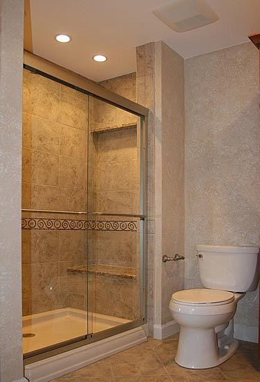Rectangle sliding door bathroom shower set up bathroom for Shower reno