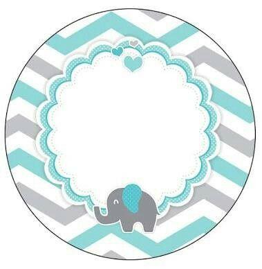 Fil Etiket Elephant Imprimibles Baby Shower Baby Shower