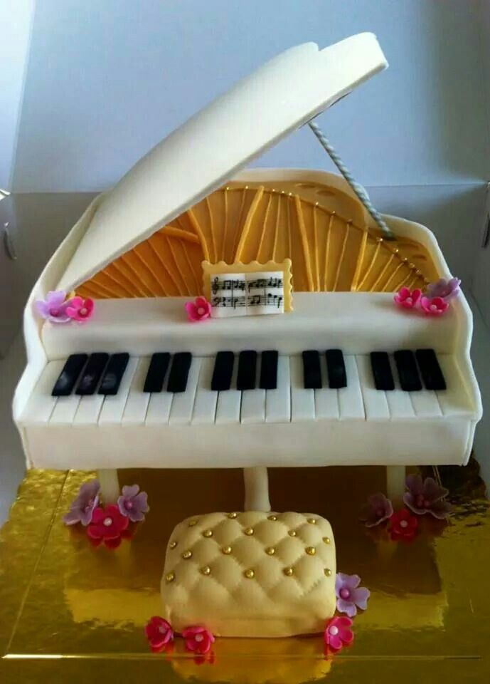Pin by Rebecca Diaz on Food Art | Music themed cakes ...
