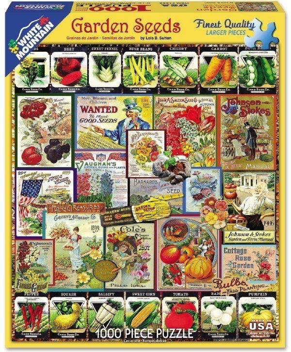 """Piece Count 1000 Pieces Artist Lois B. Sutton Puzzle Size 24"""" x 30"""" (61 x 76 cm) Age 12 Theme Vegetables / Fruits / Flowers Manufacturer White Mountain UPC 724819258925"""