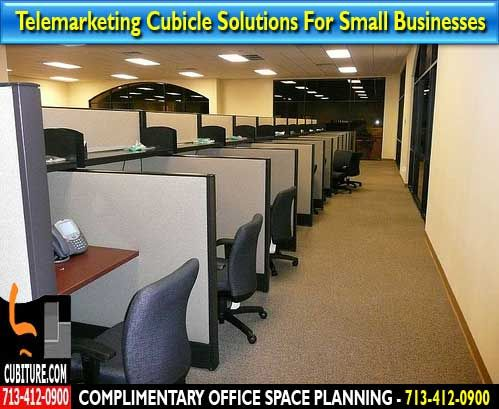 Used Telemarketing Cubicles For Free Office E Planning Quote Houston Spring Branch Texas