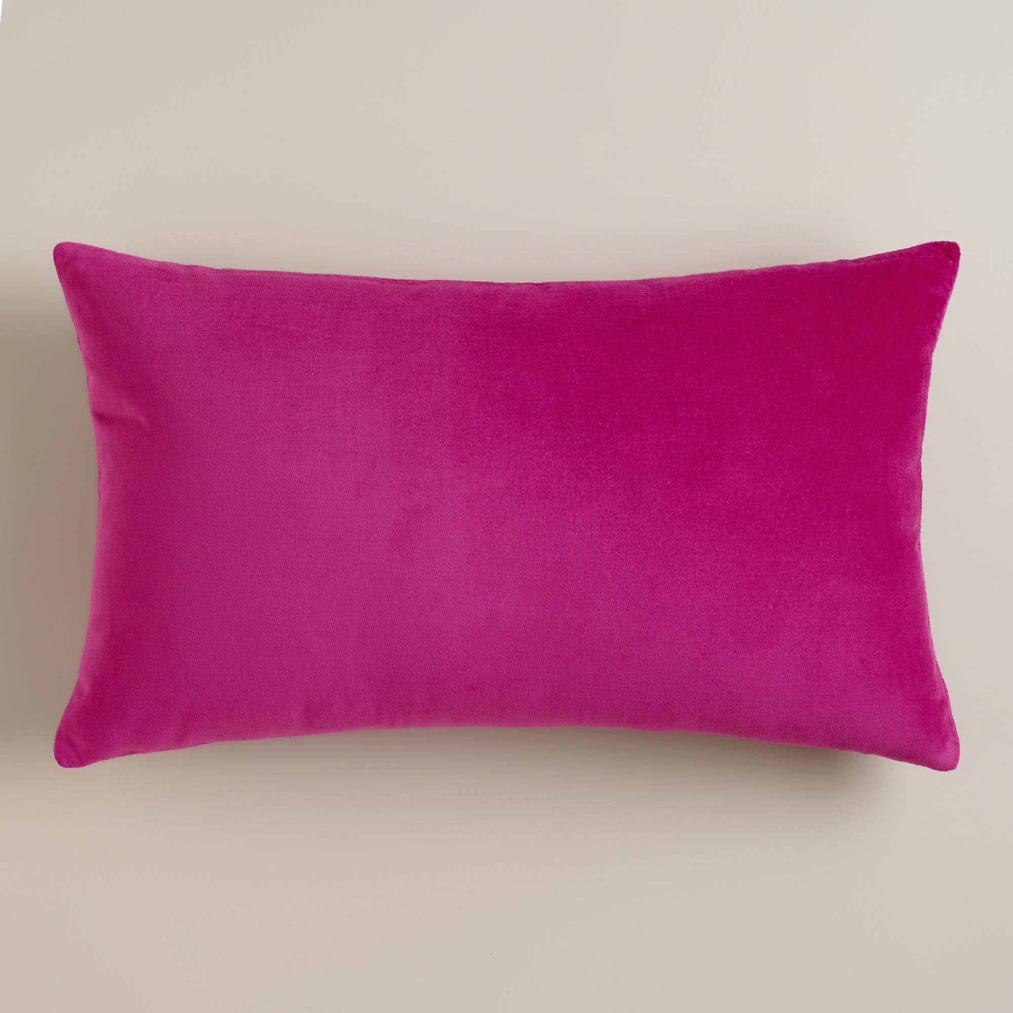Fuchsia Velvet Lumbar Pillow World Market