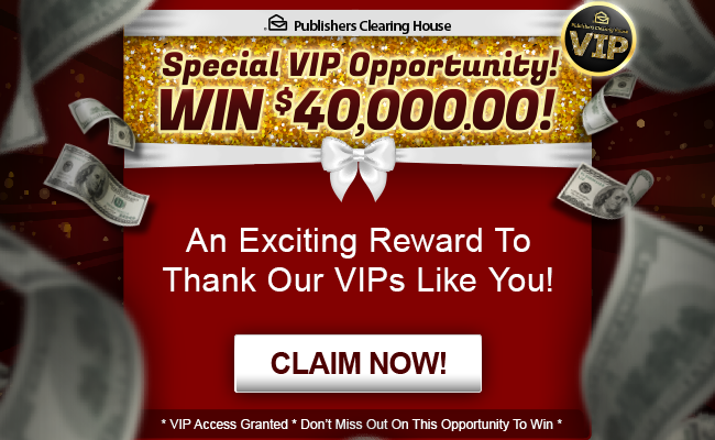 VIP   PCH com   PCH CONTEST/ Win $ 3, OOO OOO OO in 2019