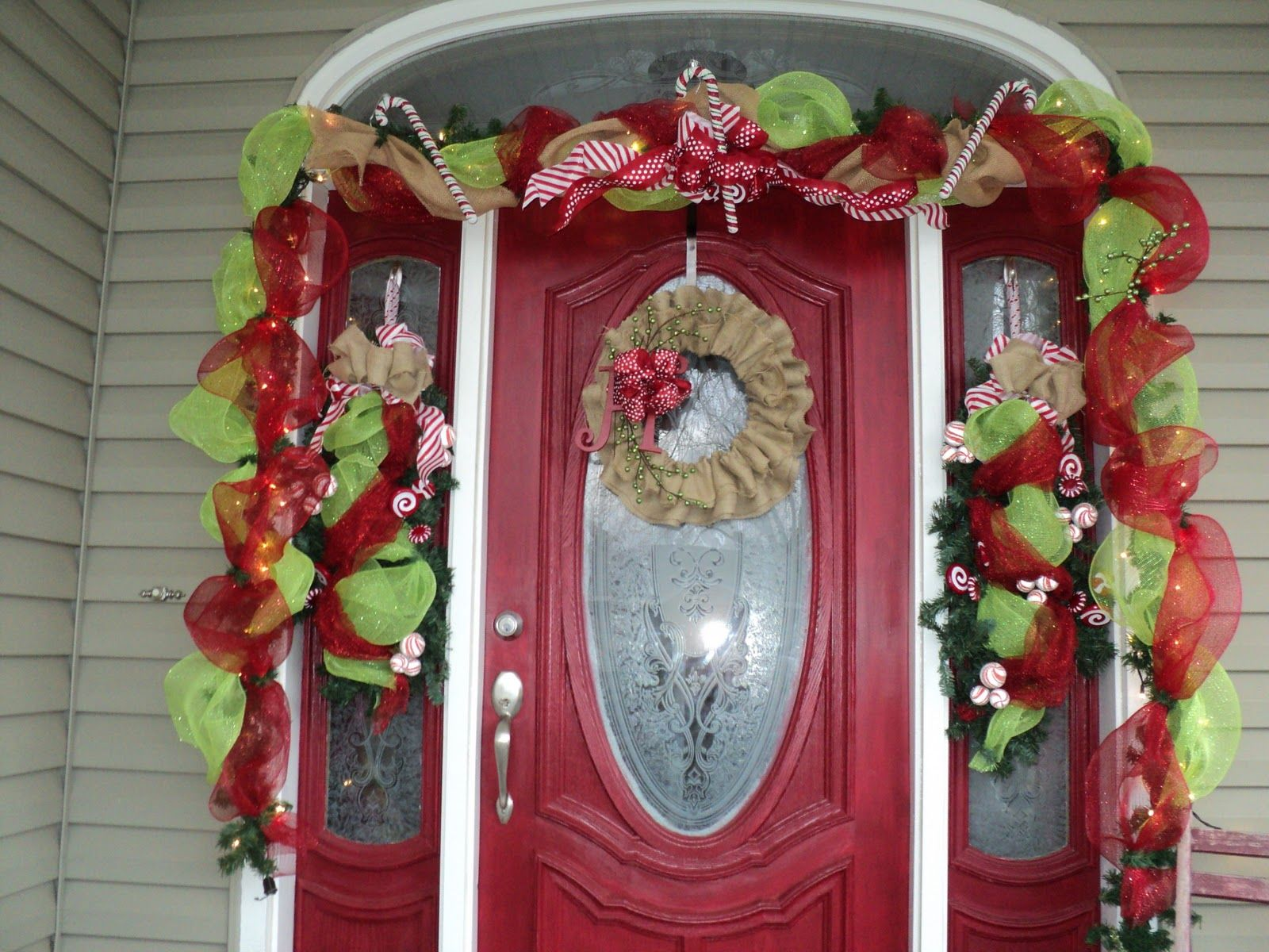 Front Door Decorations Burlap N Bling Front Door Christmas Decor