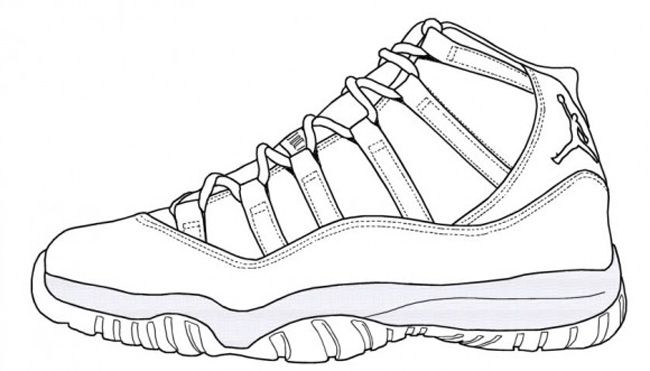 how to draw air jordan 11 in pencil