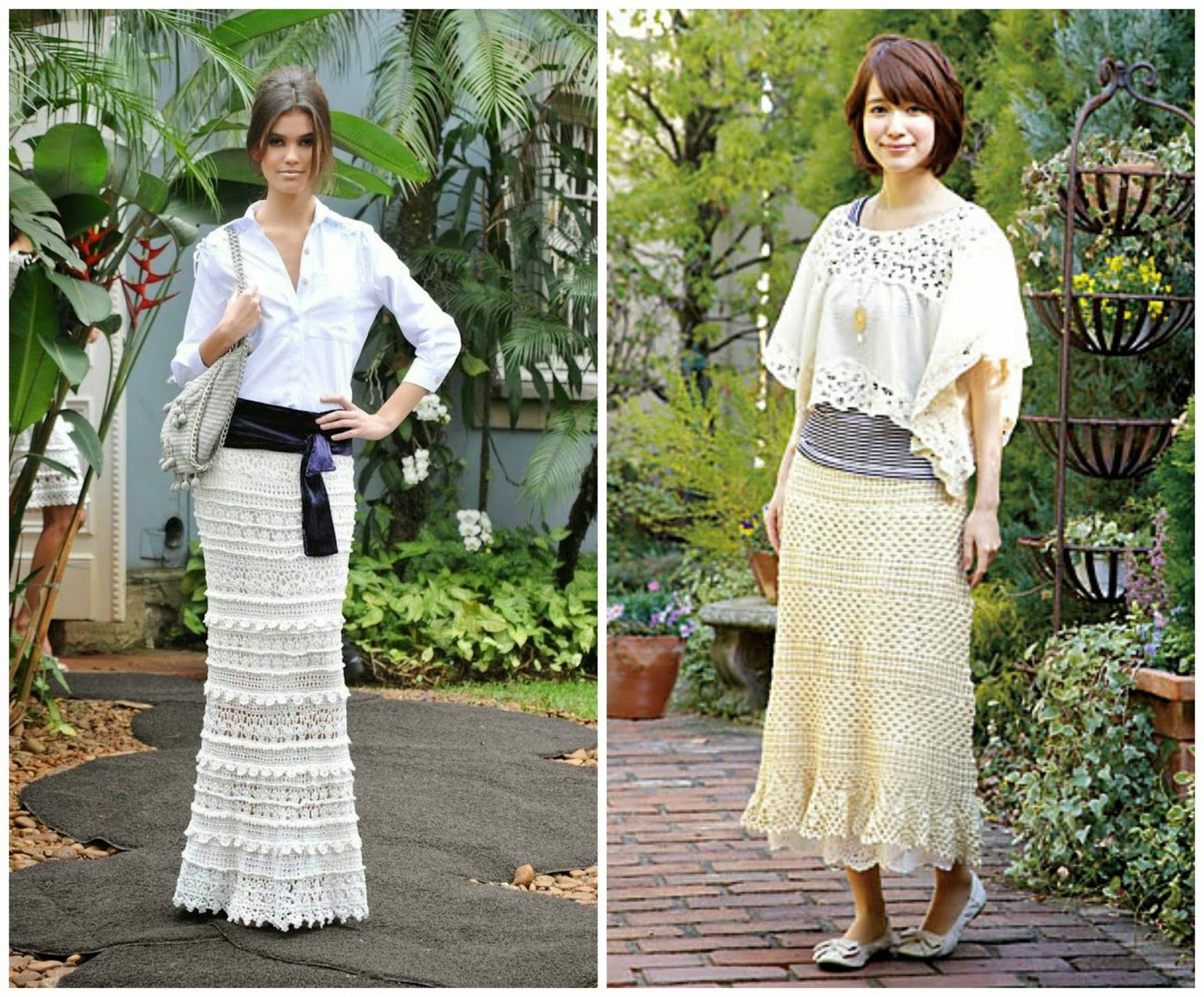 Free crocheted maxi dresses pattern