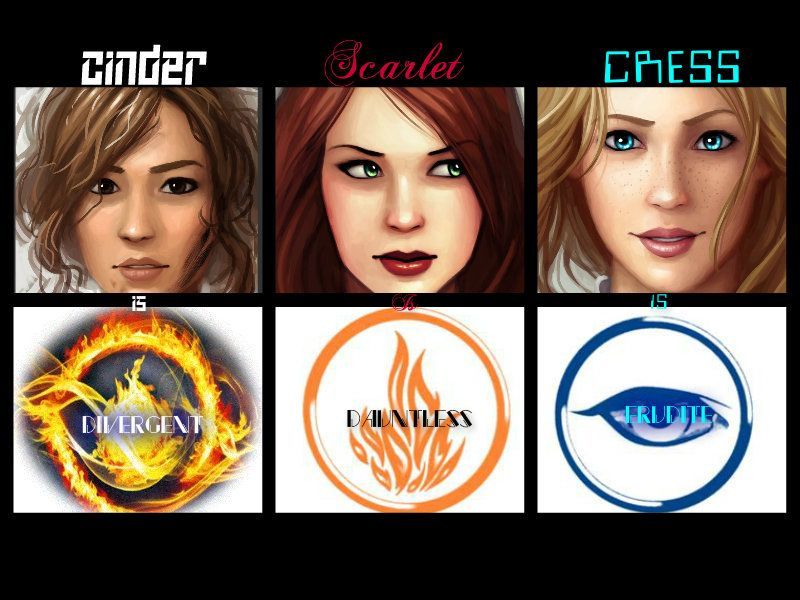 Lunar Chronicles girls with Divergent's factions