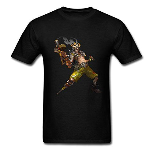Mr.Potato 2016 Exquisite Junkrat Overwatch Black Males T-Shirt Large
