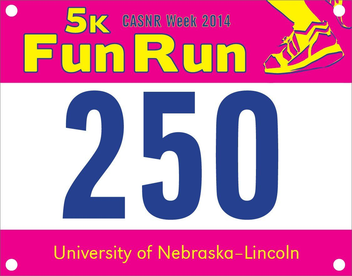 Race Bib Pick Up For Casnr Fun Run Is Wednesday Friday