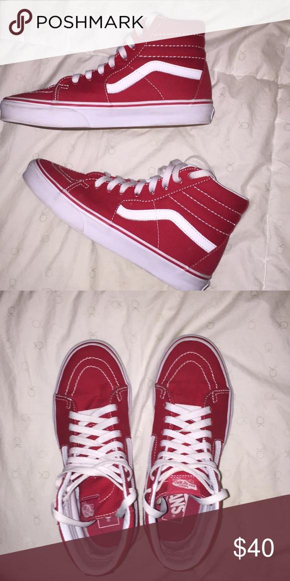 top vans, Red vans outfit