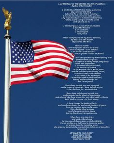 I Am The Flag Of The United States Of America Printable I Love This Poem Fourth Of July Quotes July Quotes Kids Poems