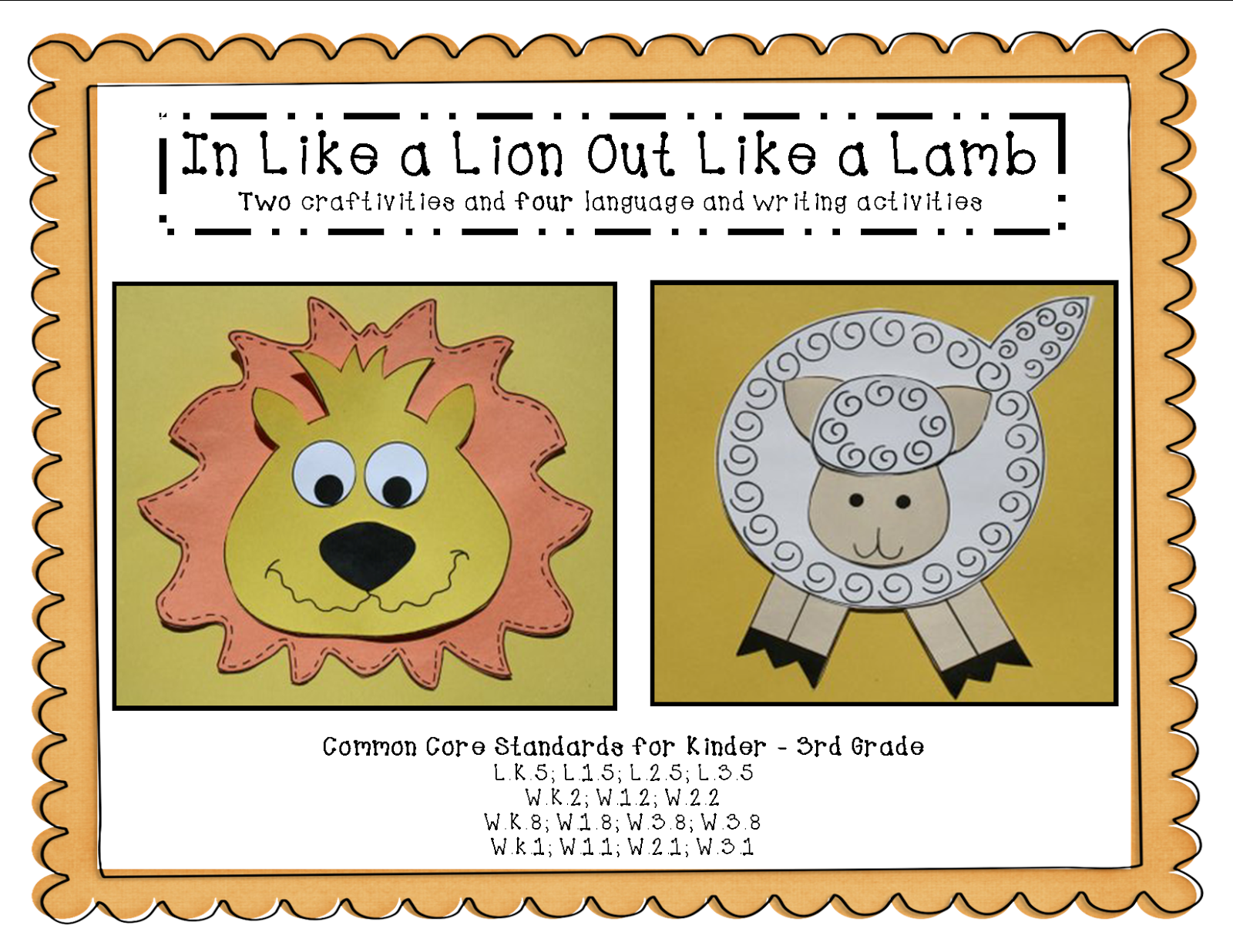 In Like A Lion Out Like A Lamb Craft And Writing