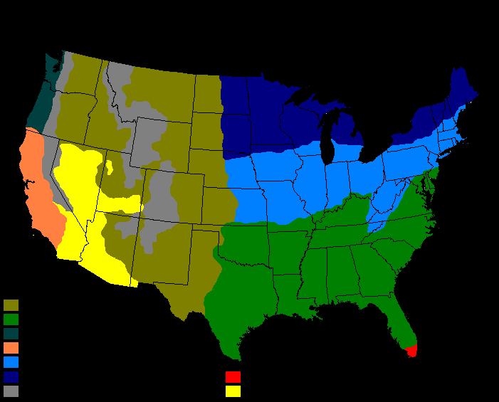 Climatemapusa2 Humid subtropical climate Wikipedia the free